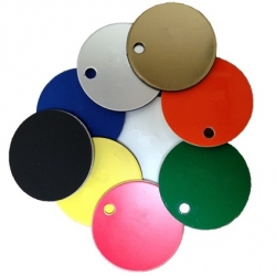 38mm Plastic Discs with hole