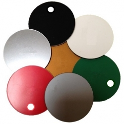 51mm Plastic Discs with hole