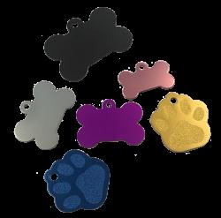 Pet Tags, Paw & Bone Bundle Pack (Pack of 20)