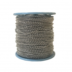 Tin Plated Ball Chain, 2.4mm diameter, 100m spool