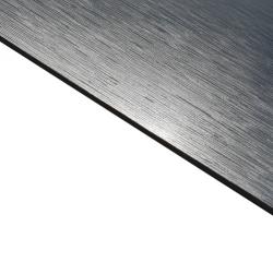External Laminate Brushed Silver Surface, Black Base
