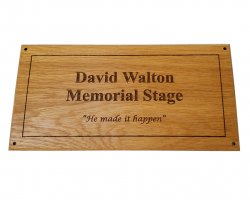 Oak Plaque Engraved and Oiled