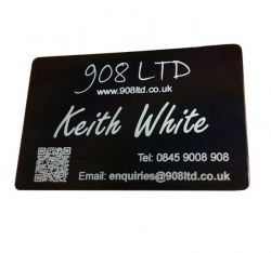 Black Aluminium Business Cards, Blank
