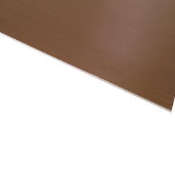 Micro Metallic Laminate Brushed Bronze Surface, White Base