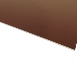 Micro Laminate Matt Brown Surface, White Base