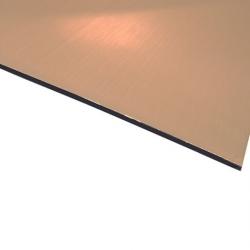 Flexline Laser Laminate Brushed Copper Surface, Black Base