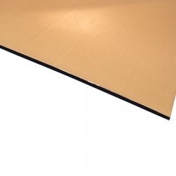 Micro Metallic Laminate Brushed Gold Surface, Black Base