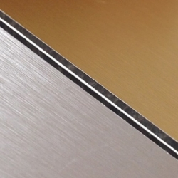 Abet Hard Engraving Laminate (Brushed) Gold/Black/Silver