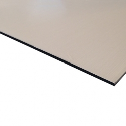 Flexline Laser Laminate Brushed Silver Surface, Black Base