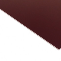 External Laminate Gloss Burgundy Surface, White Base