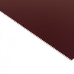 External Laminate Gloss Burgundy Surface, White Base
