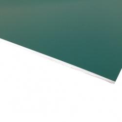 Micro Laminate Matt Dark Green Surface, White Base