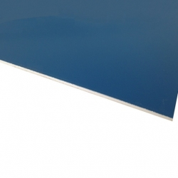 Micro Laminate Matt Deep Blue Surface, White Base