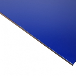 Laserable Anodised Aluminium Sheet, Gloss Blue