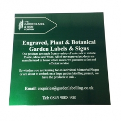Laser marked Gloss Green Aluminium label