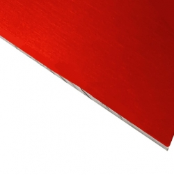 Laserable Anodised Aluminium Sheet, Gloss Red