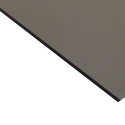 External Laminate Gloss Silver Surface, Black Base