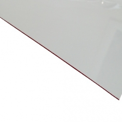 External Laminate Gloss White Surface, Red Base 0.7mm