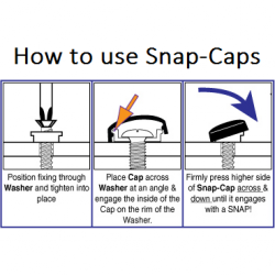 How to use snap caps