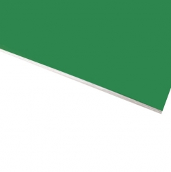 Flexline Laser Laminate Matt Light Green Surface, White Base