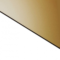 Reverse Laminate Matt Clear Surface, Gold Base