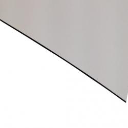 External Laminate Matt White Surface, Black Base 0.7mm
