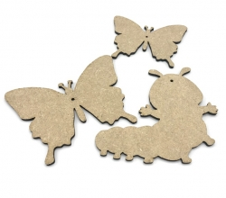 Laser Cut MDF Shapes