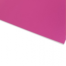 Flexline Laser Laminate Metallic Pink Surface, White Base