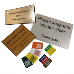 Range of Micro Engraved Labels and Signs