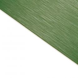 Brushed (Satin) Laminate Green Surface, White Base