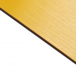 Brushed (Satin) Laminate Yellow Surface, Black Base
