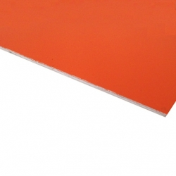 Flexline Laser Laminate Matt Orange Surface, White Base