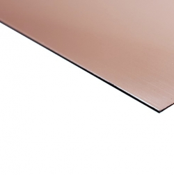 Flexline Laser Laminate Rose Gold Surface, Black Base