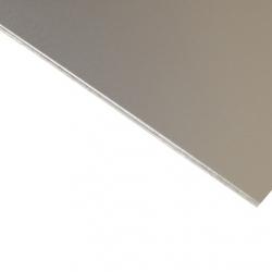 Anodised Aluminium Sheet, Silver Satin