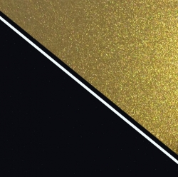 Perspex Duo Sparkling Gold Acrylic
