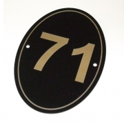 Gloss Black/Gold External Number