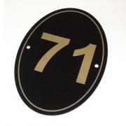 Gloss Black/Gold External Number