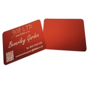 Coloured Aluminium Business Cards, Blank