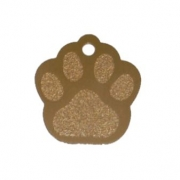 Pet Tags, Large Paw, Anodised Aluminium (Pack of 10)