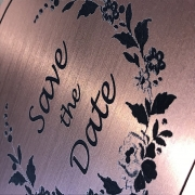 Flexline Rose Gold Laser Engraving Detail