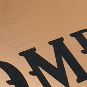 Flexline Brushed Copper Engraved