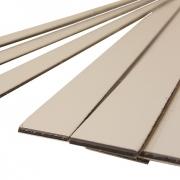 Brushed (Satin) Laminate (3 Ply) White Surface, Black Core, Matt White Base, Cut Strips