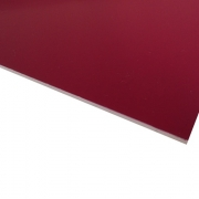 Micro Laminate Matt Burgundy Surface, White Base