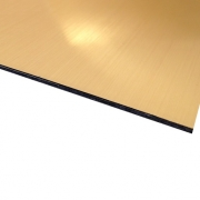 Flexline Laser Laminate European Gold Surface, Black Base