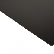 Laserable Anodised Aluminium Sheet, Gloss Black, AA15