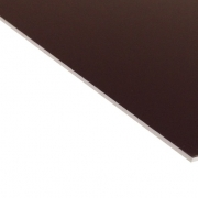 External Laminate Gloss Brown Surface, White Base 1.5mm