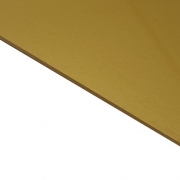Reverse Laminate Gloss Clear Surface, Gold Base