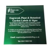 Laser marked Gloss Green Aluminium label
