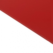 Reverse Laminate Gloss Clear Surface, Red Base