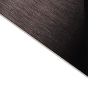 Brushed (Satin) Laminate Black Surface, White Base